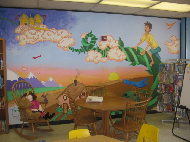 Pulaski Library Mural- full wall