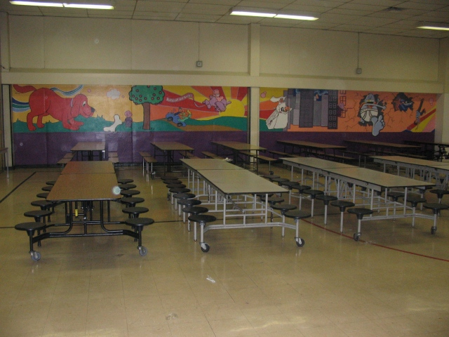 Left side of full lunchroom