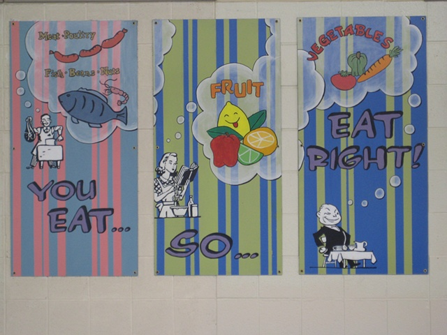 Boone Lunchroom Mural- right half