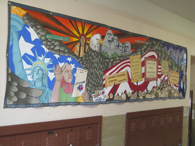 US History Mural- full view