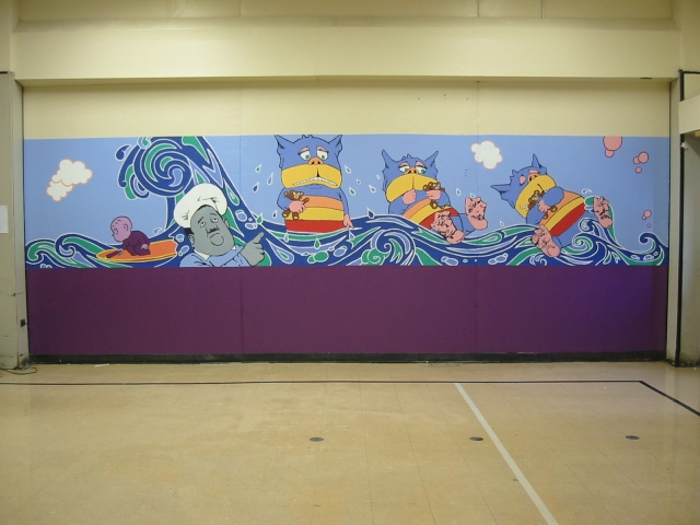 Pulaski Lunchroom Mural- panel 5