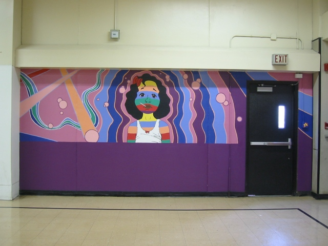 Pulaski Lunchroom Mural- panel 3
