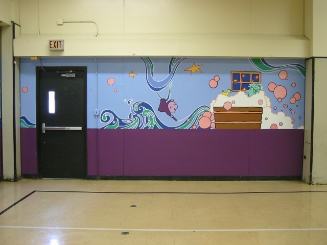 Pulaski Lunchroom Mural- panel 6
