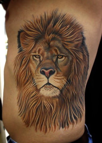 lion tattoo by dave wah