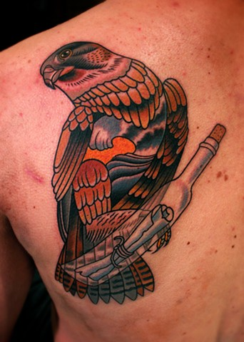 falcon tattoo by dave wah at stay humble tattoo company in baltimore maryland