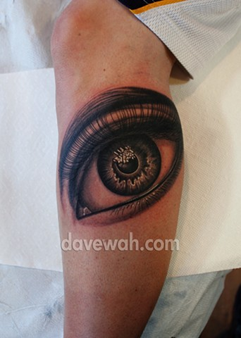 eye tattoo by dave wah at stay humble tattoo company in baltimore maryland the best tattoo shop in baltimore maryland