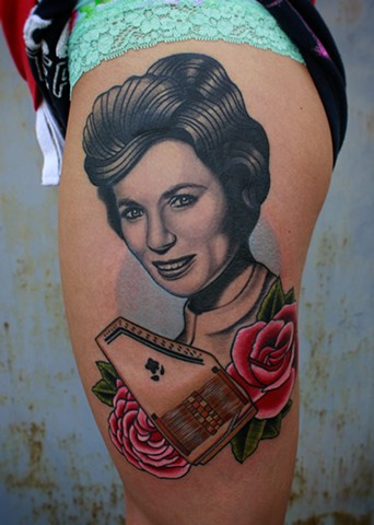Karyn's June Carter portrait tattoo
