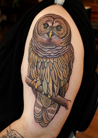 owl tattoo by dave wah at stay humble tattoo company in baltimore maryland the best shop in baltimore maryland