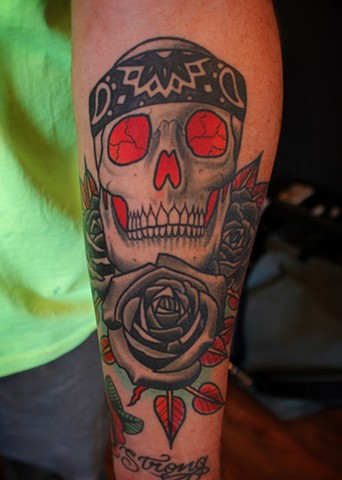 skull tattoo by dave wah at stay humble tattoo company in baltimore maryland