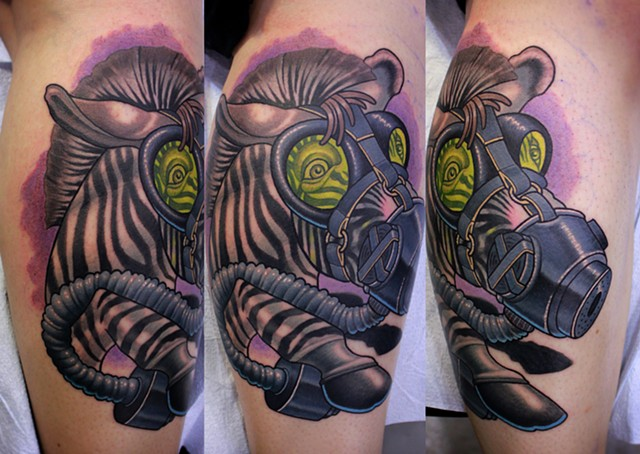 zebra tattoo by dave wah at stay humble tattoo company in baltimore maryland