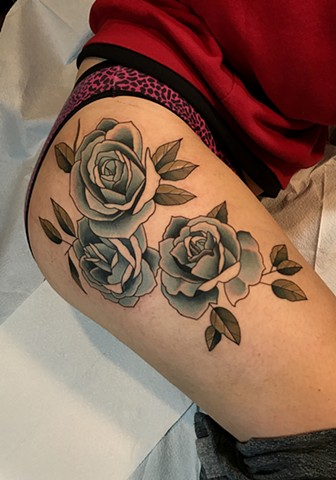 rose tattoo by tattoo artist dave wah at stay humble tattoo company in baltimore maryland the best tattoo shop in baltimore maryland