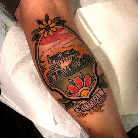 house tattoo by dave wah at stay humble tattoo company in baltimore maryland the best tattoo shop and artist in baltimore maryland