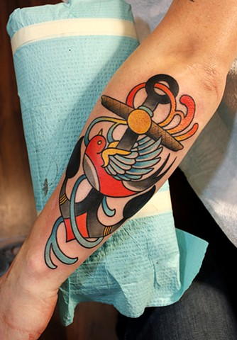 anchor tattoo by dave wah at stay humble tattoo company in baltimore maryland the best tattoo shop in baltimore maryland