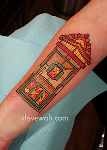 door tattoo by dave wah at stay humble tattoo company in baltimore maryland the best tattoo shop in baltimore maryland