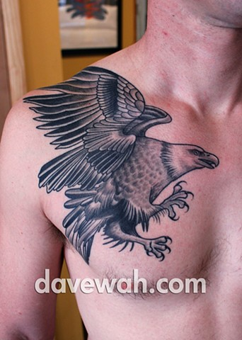 eagle tattoo by dave wah at stay humble tattoo company in baltimore maryland the best tattoo shop in baltimore maryland