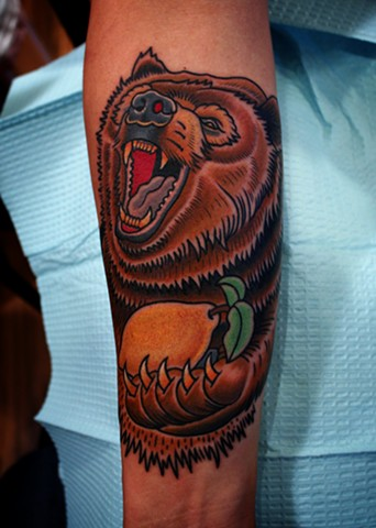 bear tattoo by dave wah at stay humble tattoo company in baltimore maryland