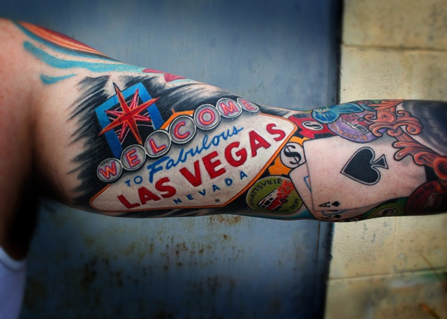 Ken's welcome to las vegas sign tattoo