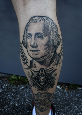 george washington masonic tattoo by dave wah