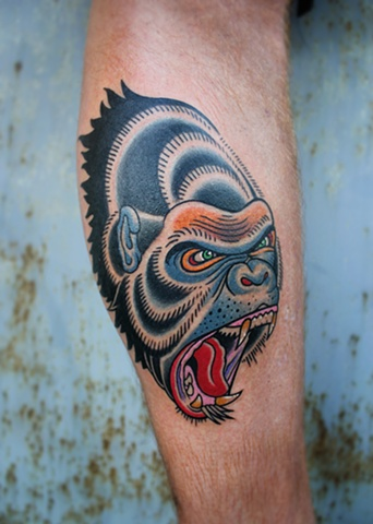 screaming gorilla tattoo