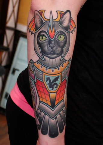 soldier cat tattoo by dave wah at stay humble tattoo company in baltimore maryland the best tattoo shop in baltimore maryland