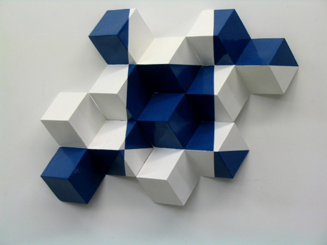 Camouflage in Blue and White