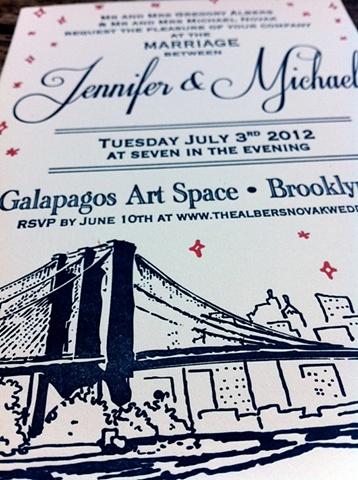 Midnight in Brooklyn Invite- detail