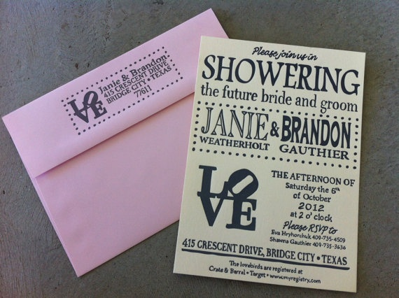 LOVE invites and envelopes