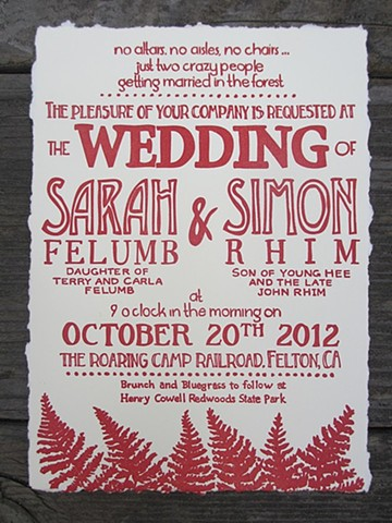 Forest Wedding with deckled edge