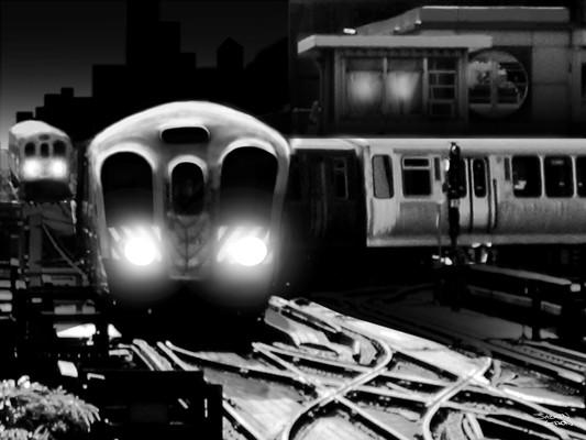 Chicago, CTA, Film Noir, Concept Art
