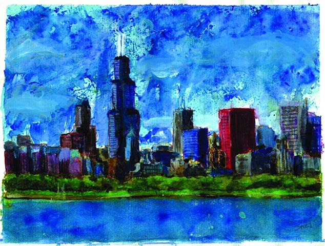 Chicago Skyline Jazmin Giron