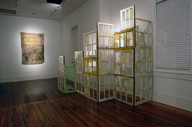 Sheet Moss & Untitled (Window Assemblage), installation view