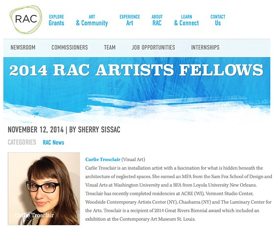 RAC Artist Fellows November 2014