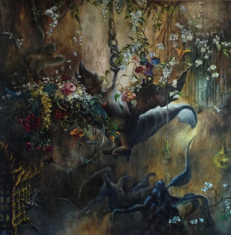sofia_bachvarova_artist_All That Remains When We've Sang Our Sorrows_oil_on_canvas