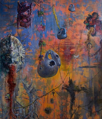 """""""Beyond The Hanging Garden"""" investigates the transitory states of consciousness between our past and future existences, described in the Tibetan Book Of The Dead as bardo, or in western ontology as limbo."""