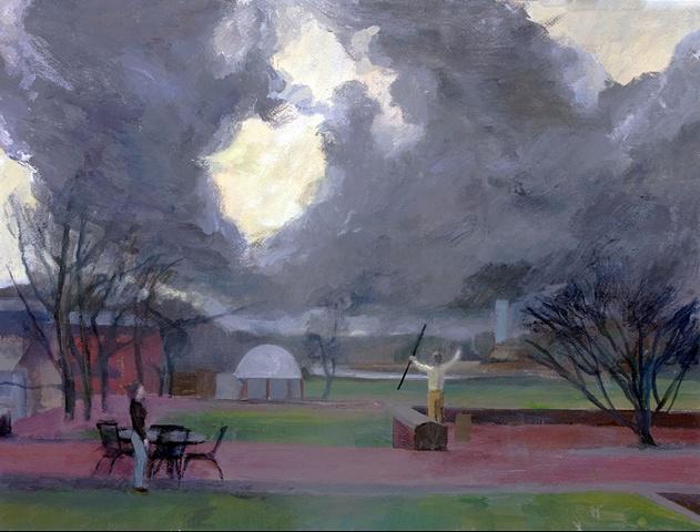 Prospero conjures a storm (College Creek)