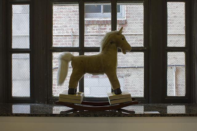 Installation shot of sculpture, Frank-N-Horsey, from The Carling Ballroom, September 2012
