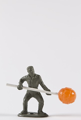 Soldier With Orange