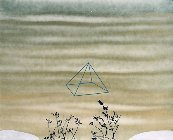 casey roberts - cyanotype - exploring pyramid power