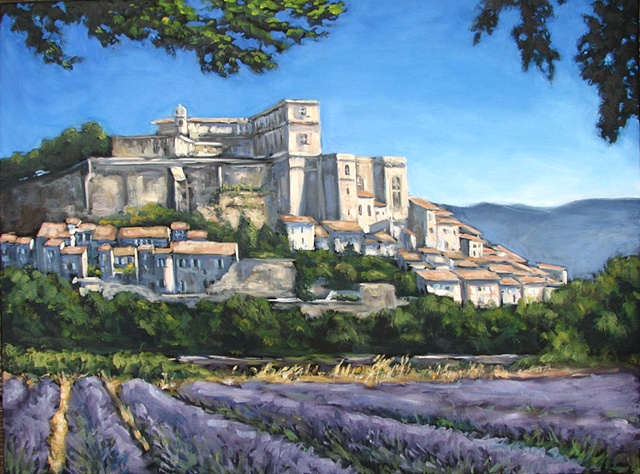 lavender provence oil painting carrie mitchell