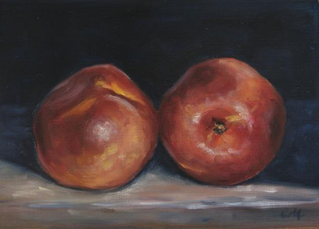 """Two Nectarines"""