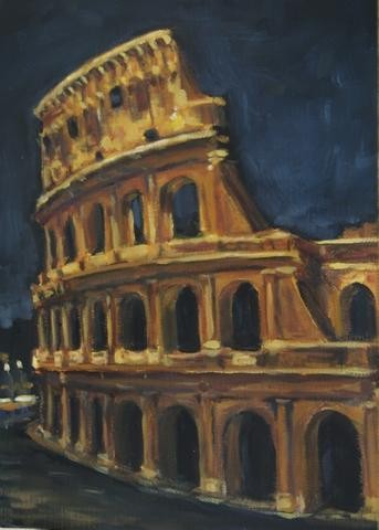 """Colosseum at Night"""