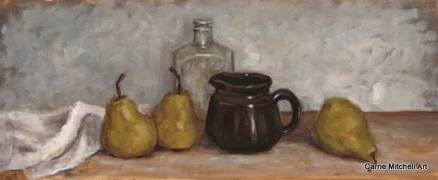 """""""Old Bottle and Pears"""""""