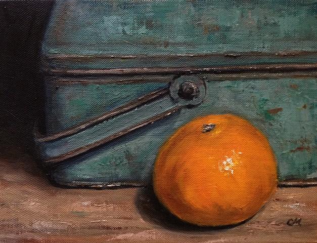 still life, tangerine,