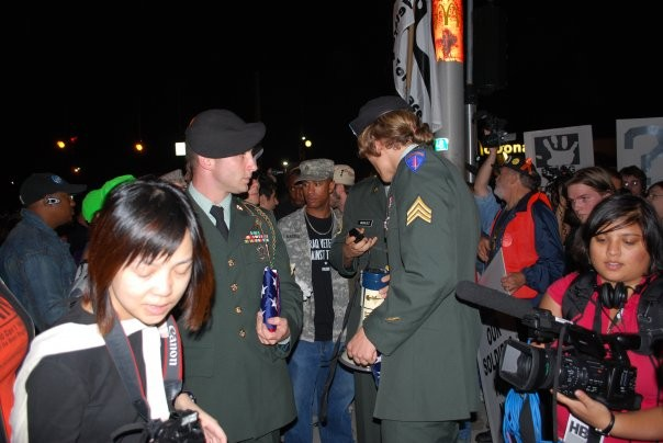 Filming Veterans at 2008 Presidential Debate