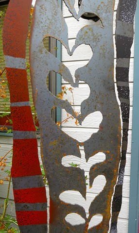 Detail of tall slender panel