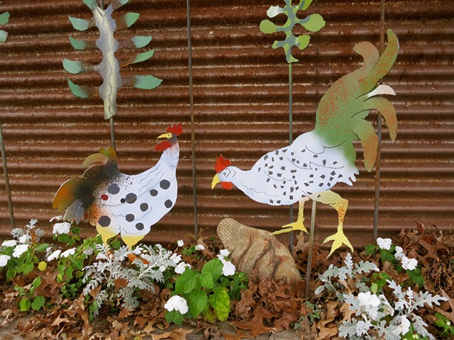 Chickens in steel!