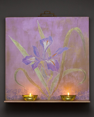 Iris Votive Painting