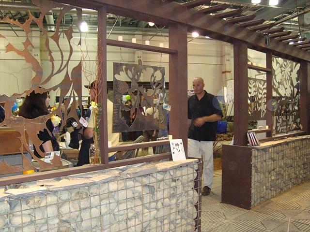 Steel garden screens/Cal Expo