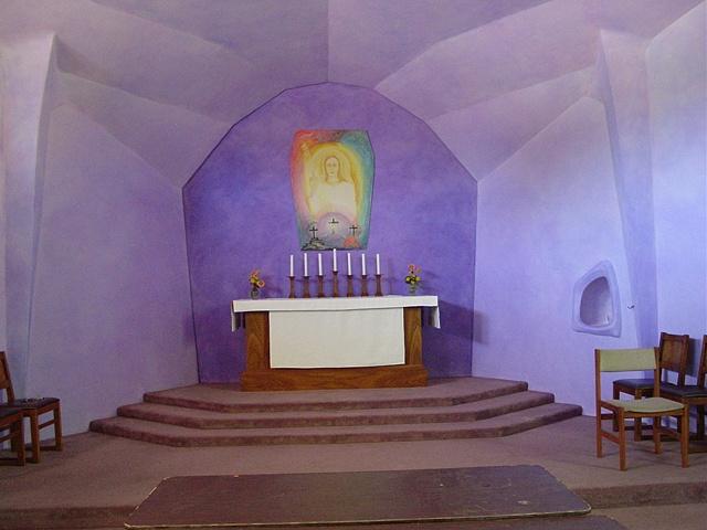 Altar area, Christian Community Church, Rancho Cordova, California