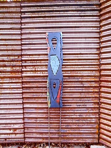 Tall steel panel
